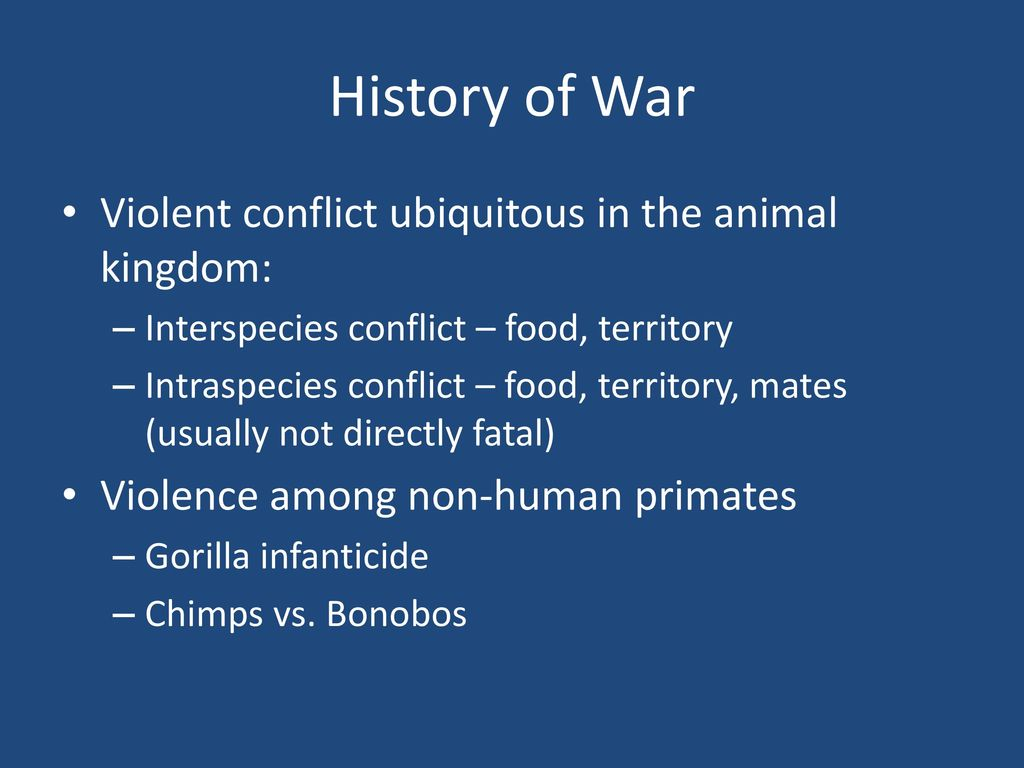 Historical examples of solving conflicts with violence