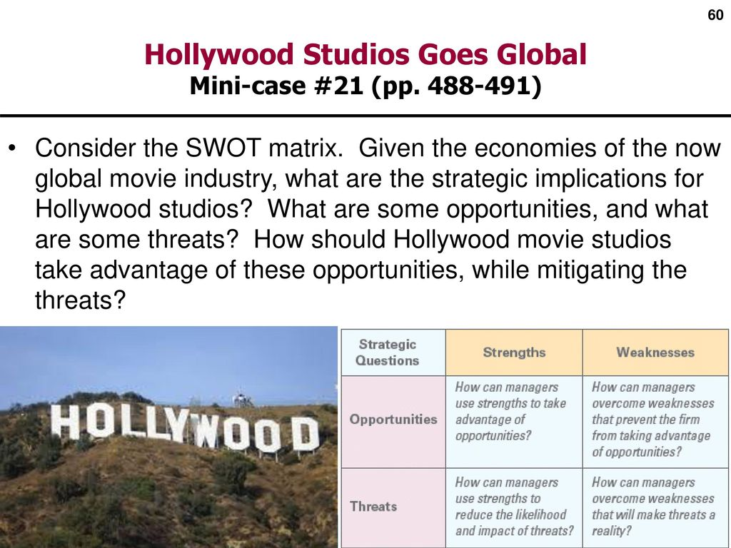 globalization strategies in hollywood Industriall develops strategies to mobilize workers' capital in order to influence corporate  industriall global union will fight for its.