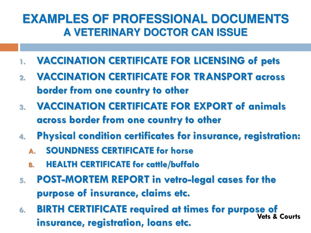 Veterinarians courts of law part i veterinary vet ppt download 50 examples aiddatafo Image collections