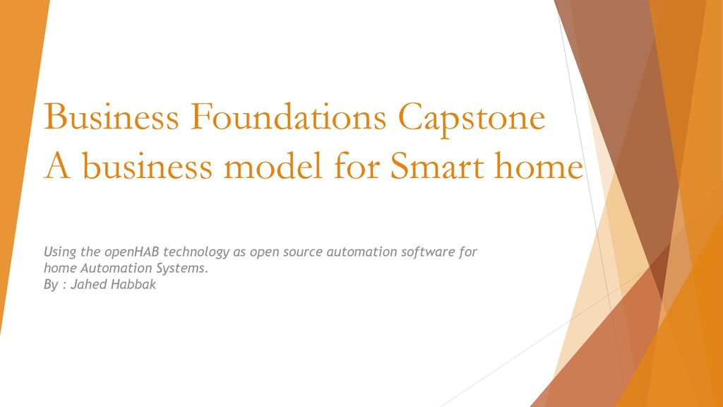 business foundations capstone a business model for smart. Black Bedroom Furniture Sets. Home Design Ideas