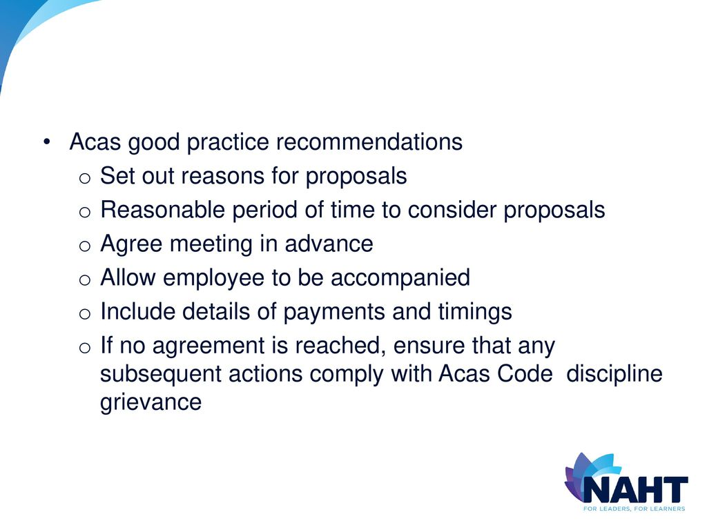 Officials conference 17 january ppt download 7 acas good practice recommendations platinumwayz
