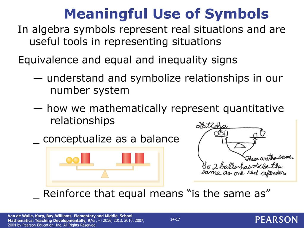 Elementary and middle school mathematics teaching developmentally meaningful use of symbols biocorpaavc Choice Image