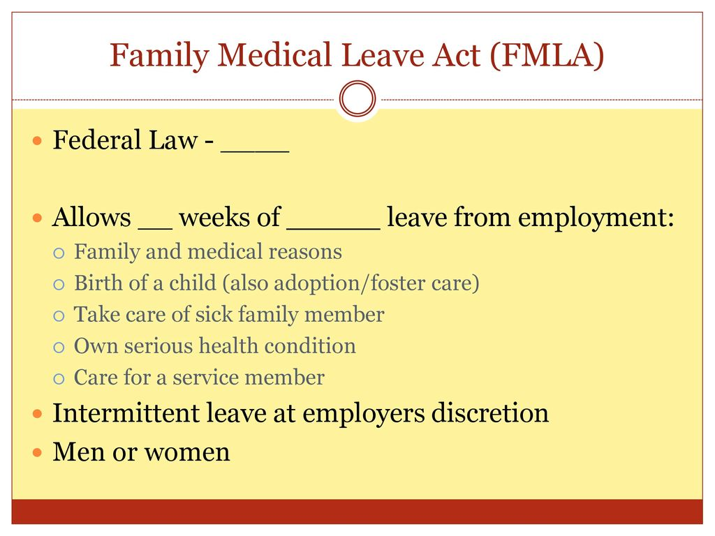 employment and medical leave act What employers need to know about washington's new paid family and  medical leave insurance law labor and employment legal update.
