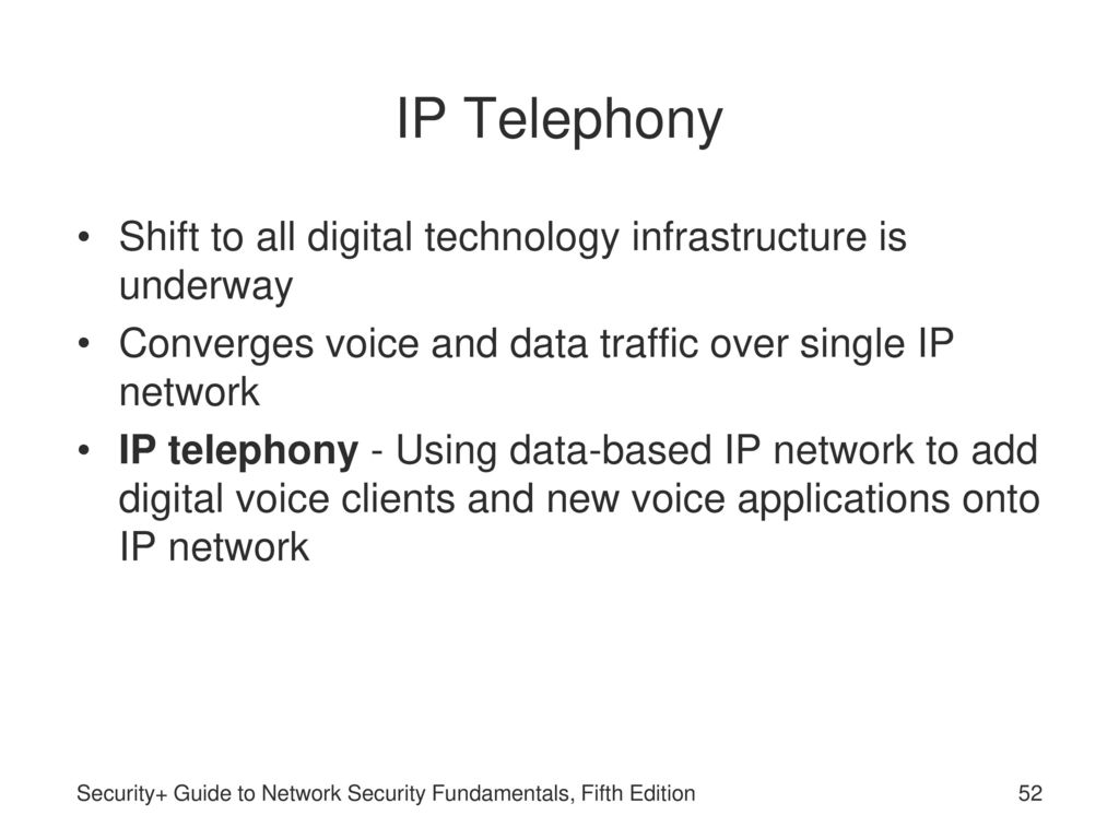 infrastructure of voice over ip solutions Evolution of voice communication - voip: the replacement of pots  be  transmitted over the internet, fully bypassing the traditional copper-wire  infrastructure.