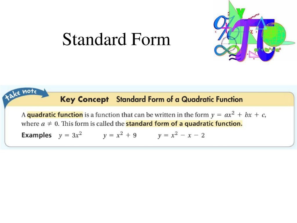 Quadratic graphs and their properties ppt download 7 standard form falaconquin