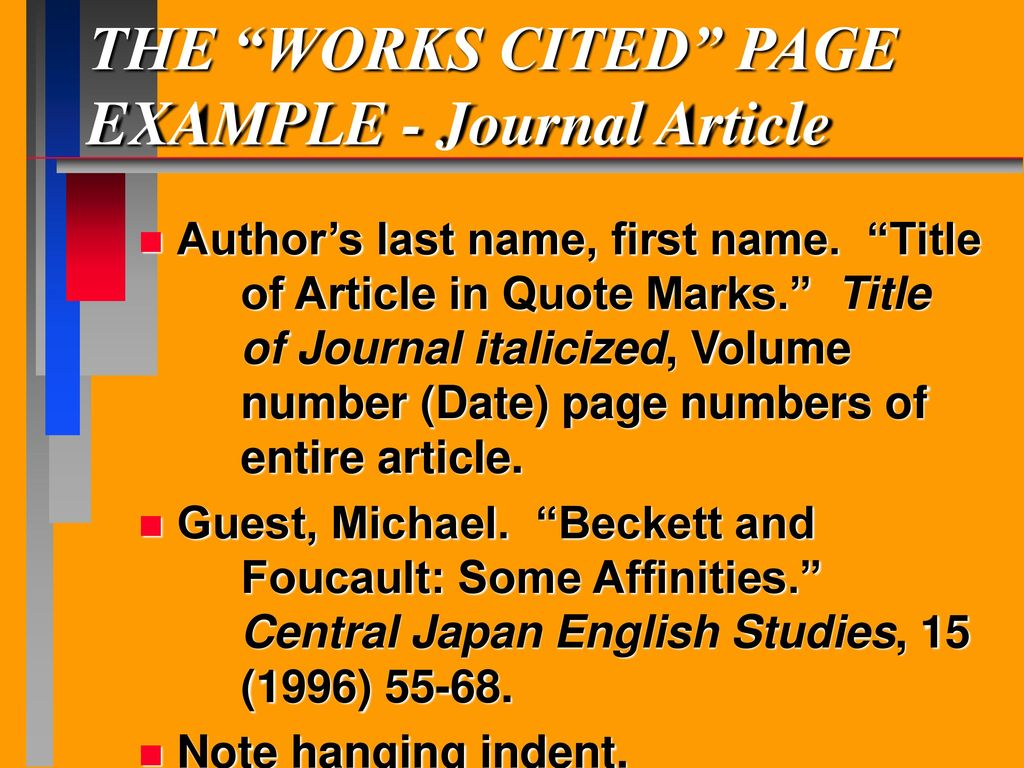 mla format journal articles Produced by the modern language association (mla), the electronic version of the bibliography dates back to the 1920s and contains millions of citations from journals and series, as well as book publishers mla international bibliography covers literature, language and linguistics, folklore.