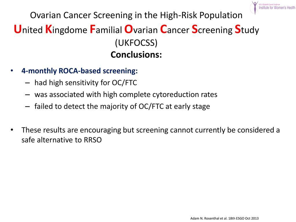 United Kingdom Familial Ovarian Cancer Screening Study