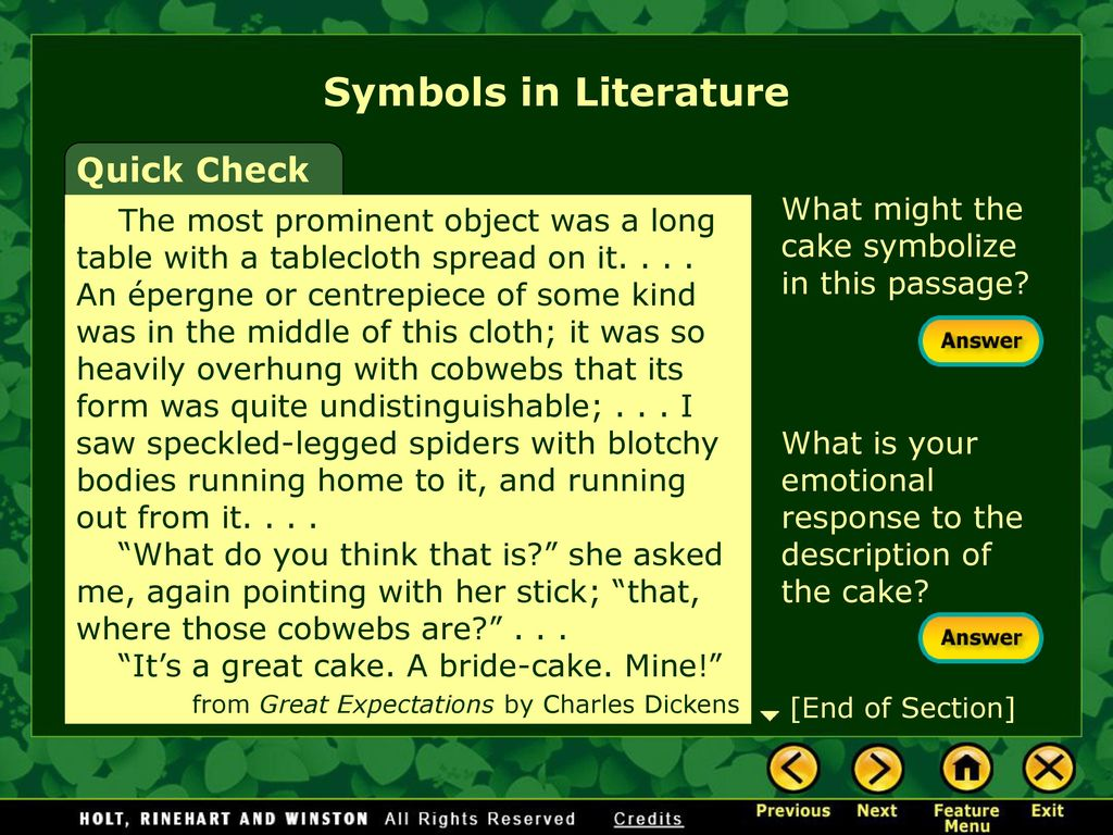 Symbolism and allegory ppt download symbols in literature quick check biocorpaavc Images