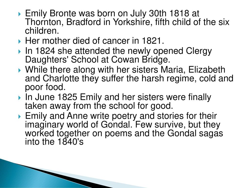 remembrance emily bronte essay Essays & papers remembrance by emily bronte is an elegy and contains a lot of negative imagery - paper example remembrance by emily bronte is an elegy and contains a lot of negative imagery.