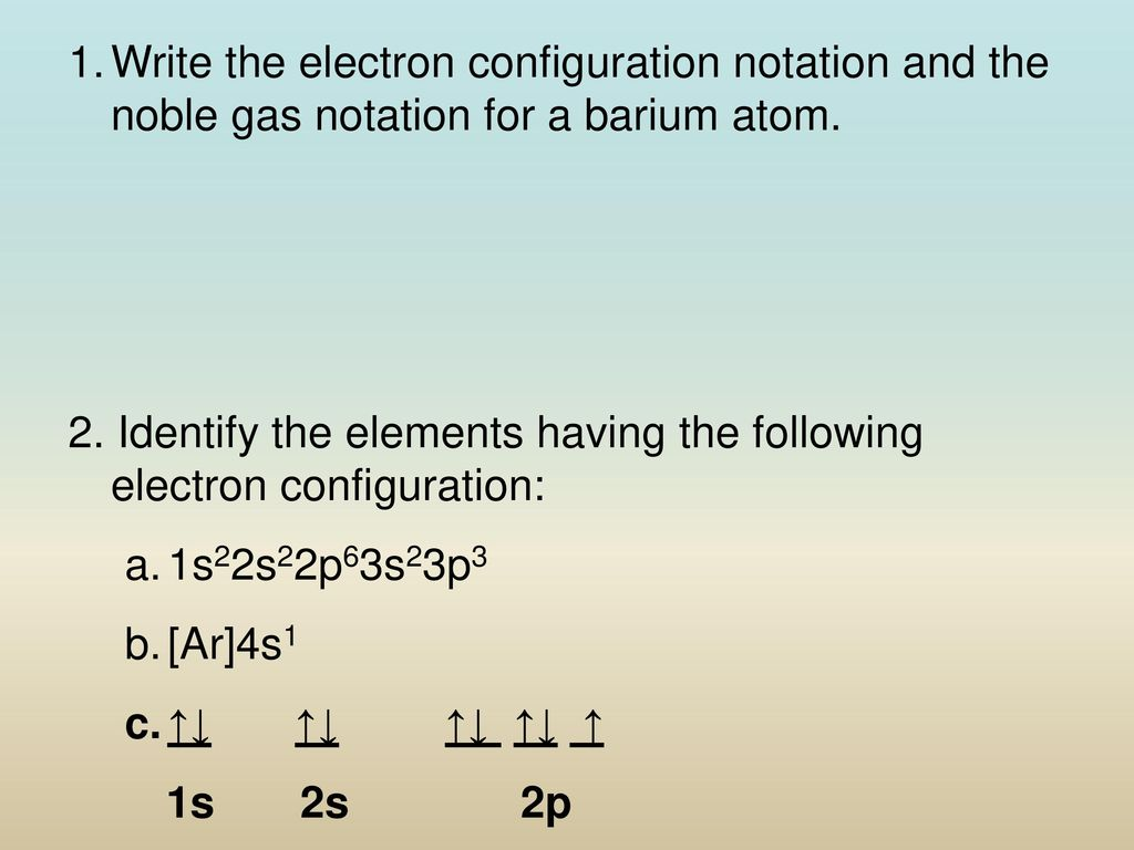 Electron Configuration & Orbitals - ppt download