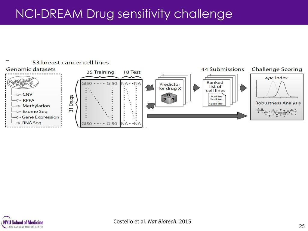 NCI-DREAM Drug sensitivity challenge