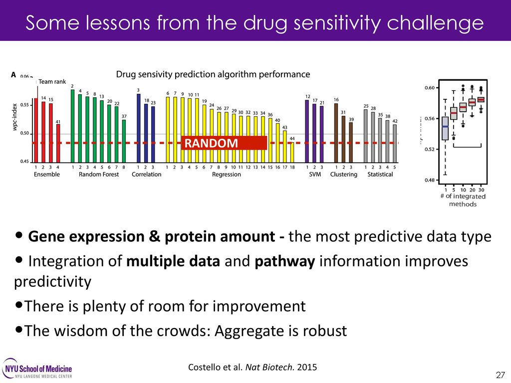 Some lessons from the drug sensitivity challenge