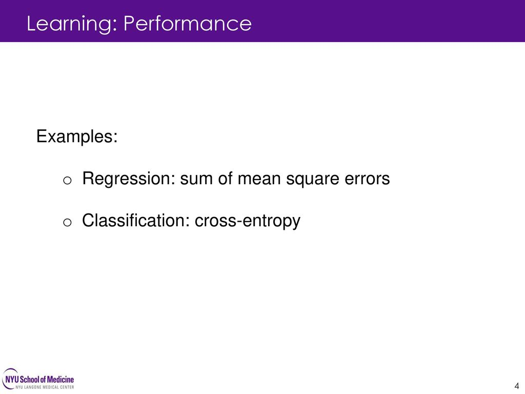 Learning: Performance
