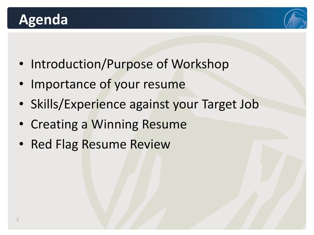Creating a Winning Resume - ppt download