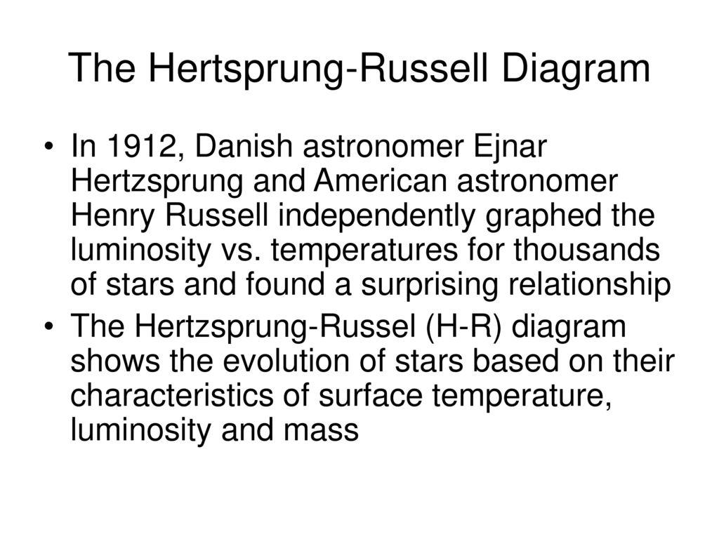 Stellar evolution lab ppt download the hertsprung russell diagram pooptronica