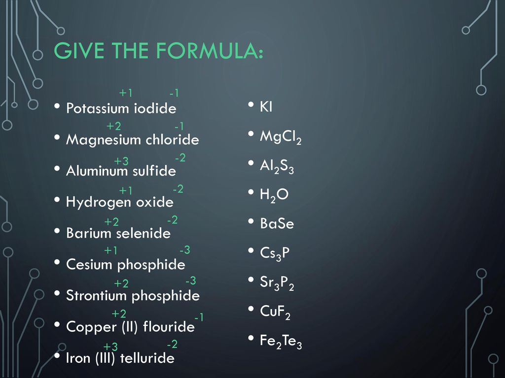 how to find the formula for aluminum sulfide