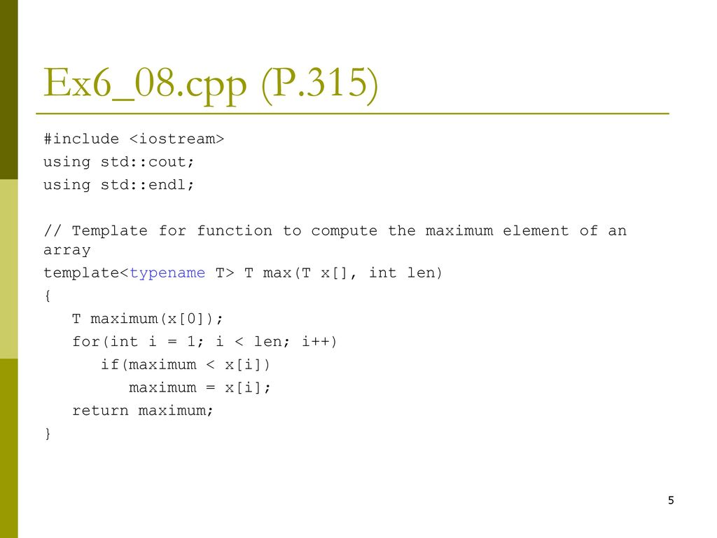 Overloaded Function (P.311) - ppt download