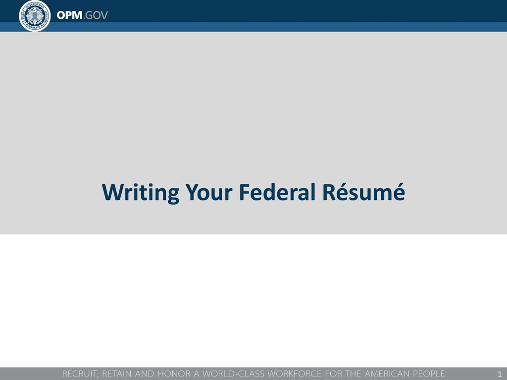 Excellent Writing Your Federal Resume Webinar Gallery Resume