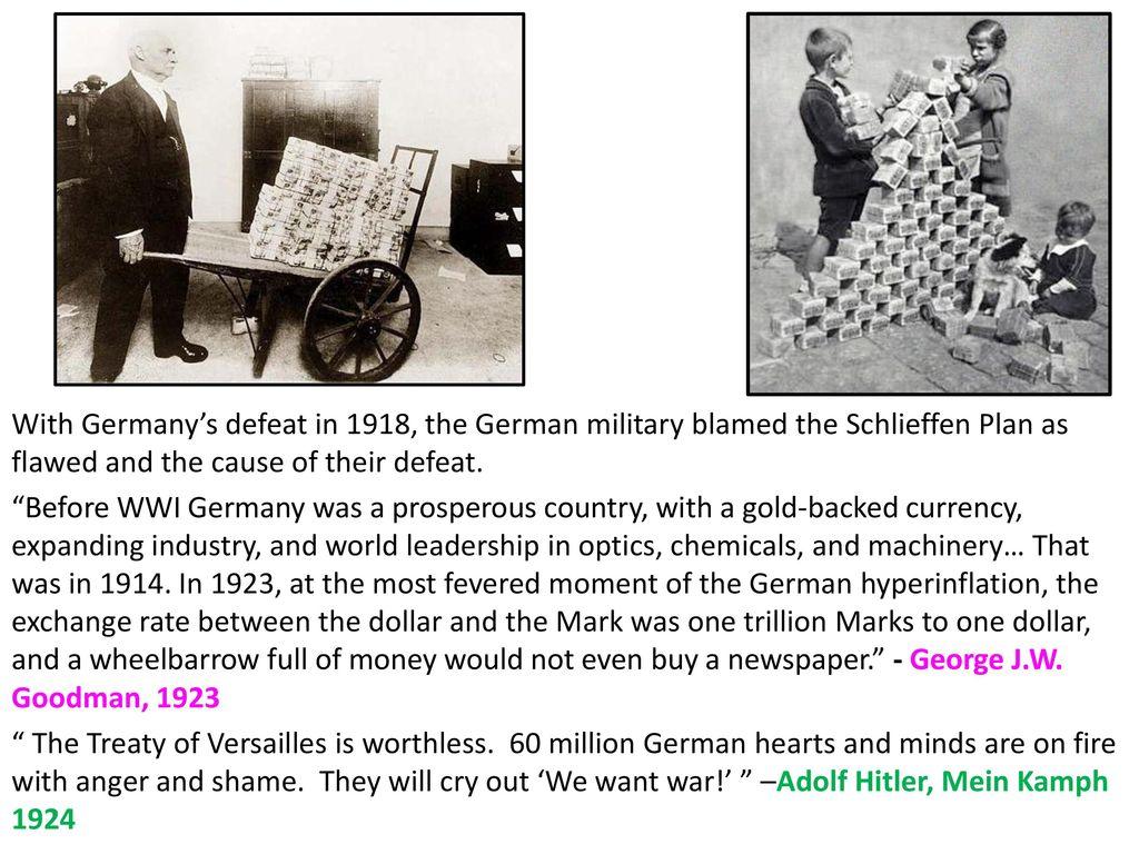hvorfor hyperinflasjon i tyskland