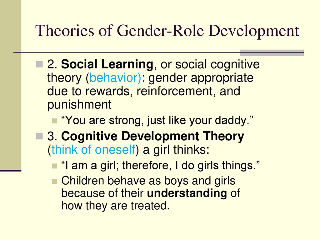 gender roles inherent or socialized Read through hrc's helpful list of terminology and definitions related to sexual orientation and gender identity hrc an inherent or immutable enduring.