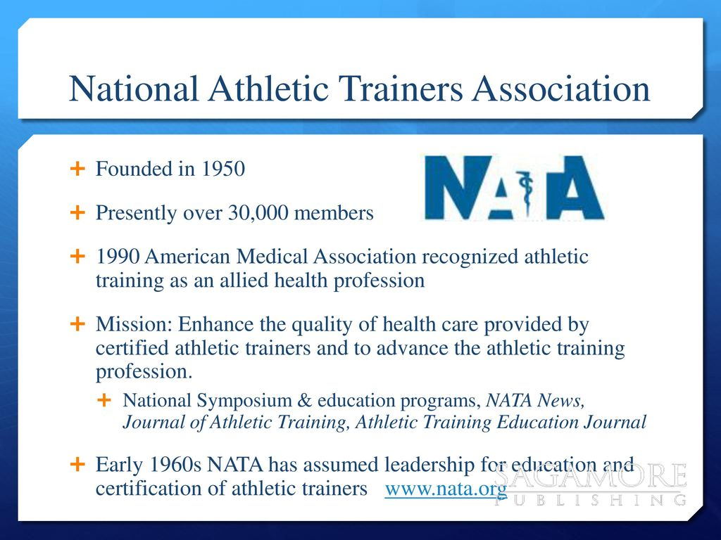Pe 282 introduction to athletic training ppt download national athletic trainers association 1betcityfo Choice Image