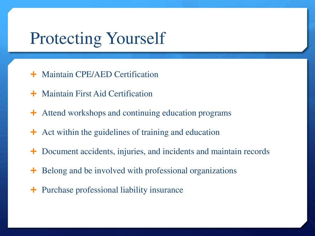 Pe 282 introduction to athletic training ppt download protecting yourself maintain cpeaed certification xflitez Images