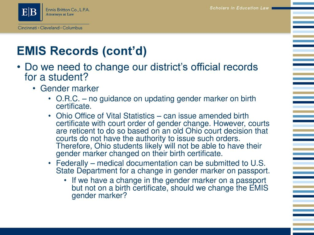 Oaep conference transgender students in schools ppt download emis records contd do we need to change our districts official records 1betcityfo Image collections