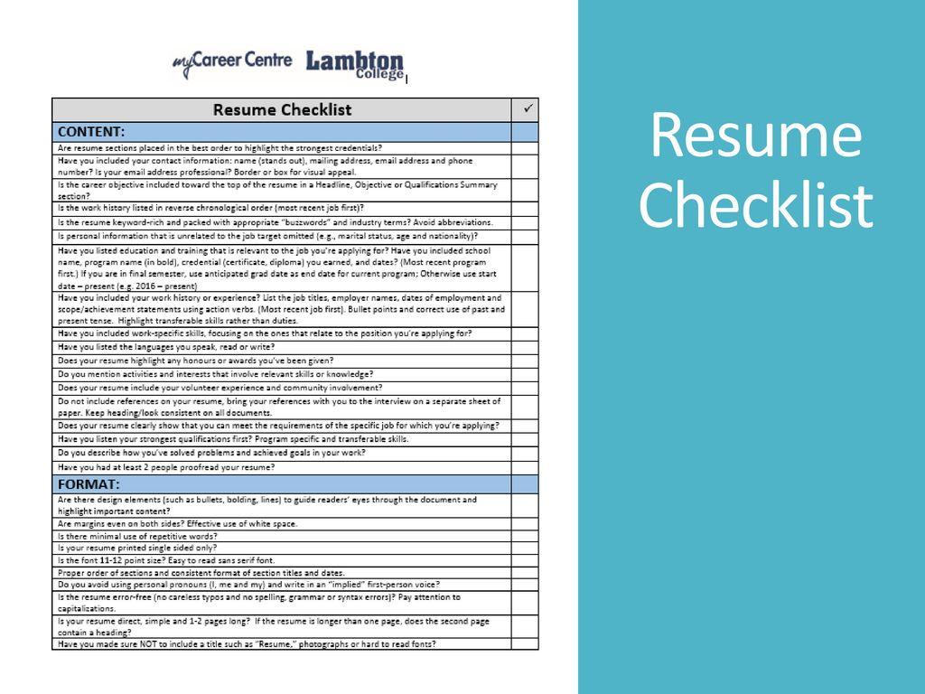 Amazing Resume Checklist Contemporary - Entry Level Resume Templates ...