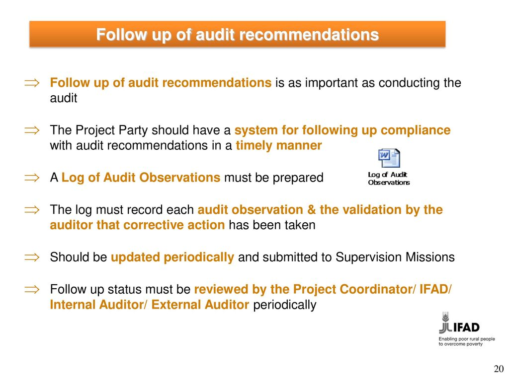 Audit definition underlying objectives frequency ppt for Audit follow up template