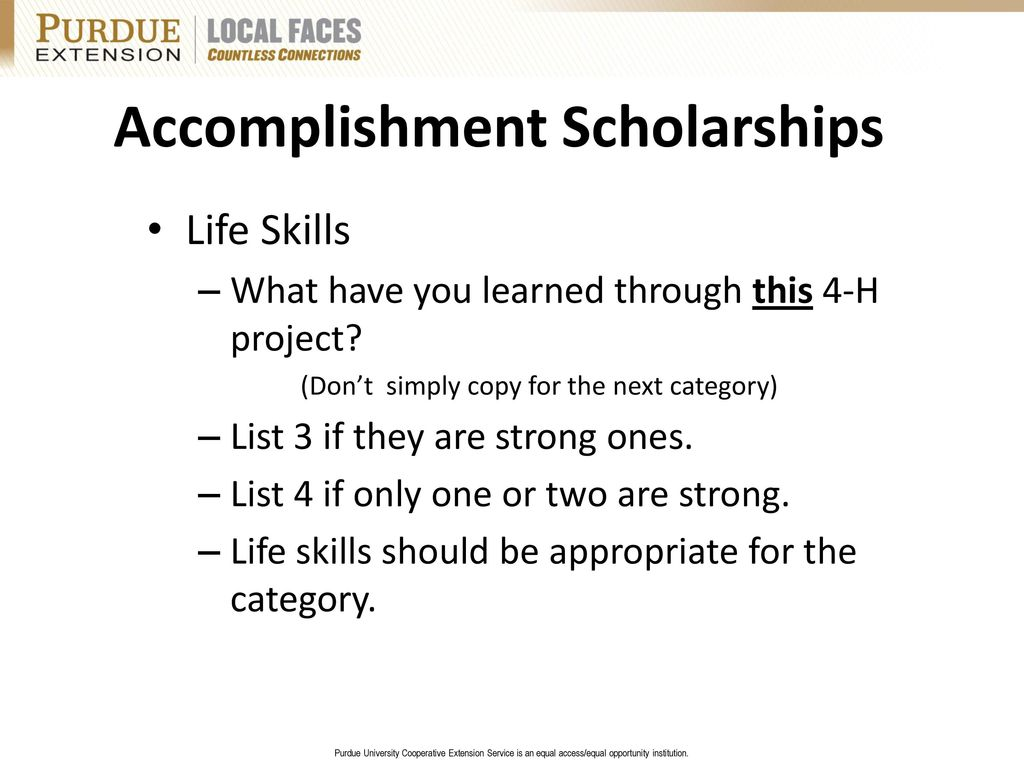 accomplishment list