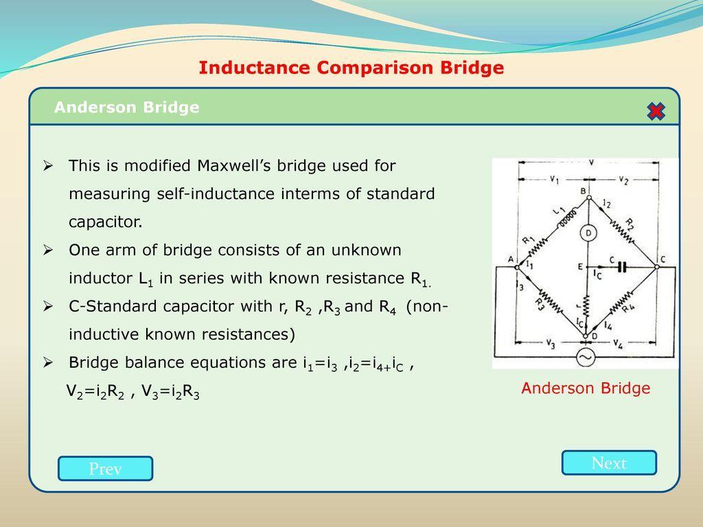 Resistance inductance capacitance measurements ppt download inductance comparison bridge pooptronica Images
