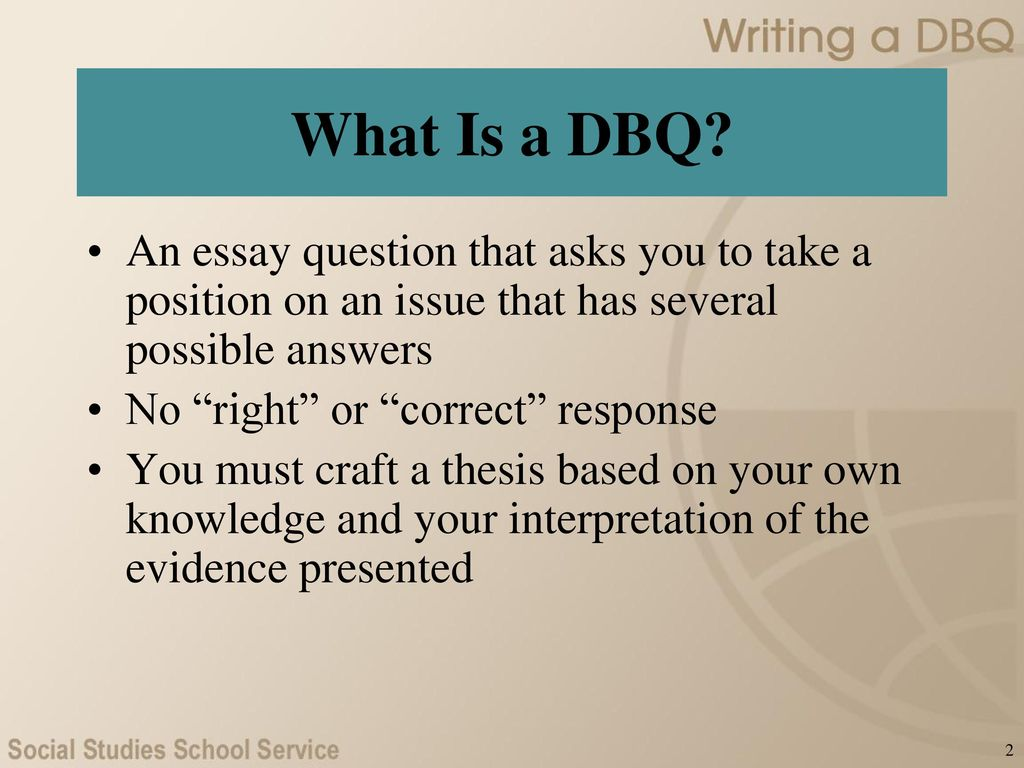 WRITING A DBQ: AP* U.S. History. - ppt download