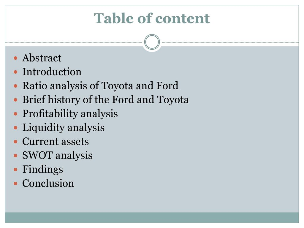 financial statement analysis of ford and One way to know that your business is in a stable financial condition is to develop a financial statement this is a statement analysis that reviews and analyzes the.