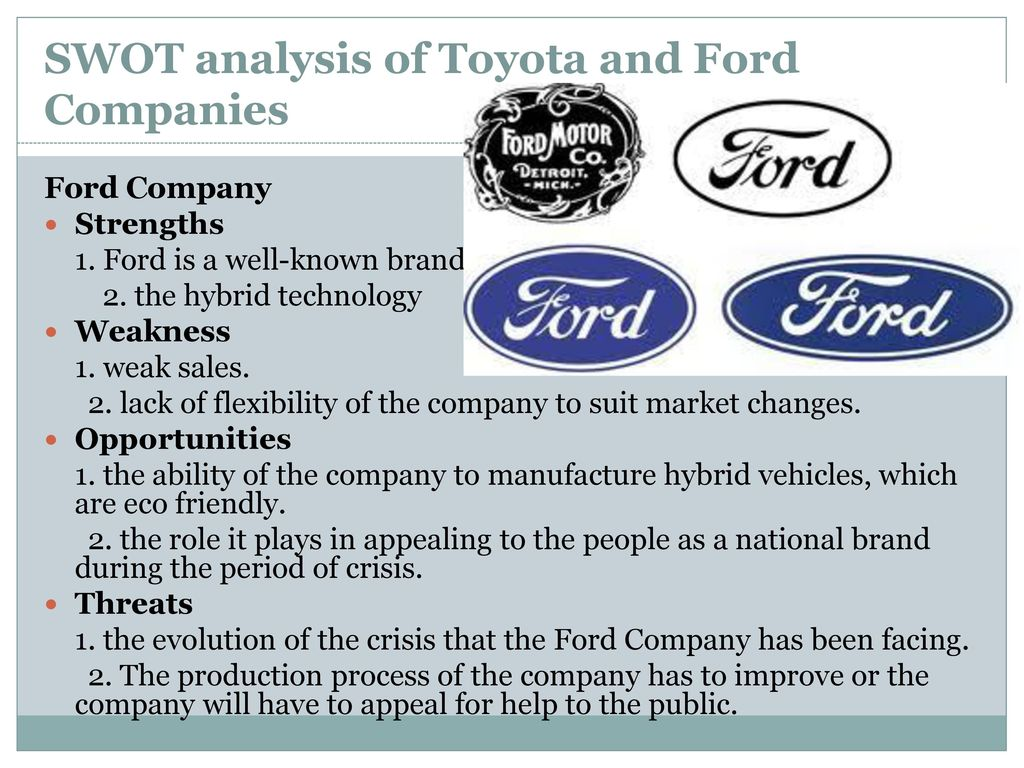 Analysis for Toyota
