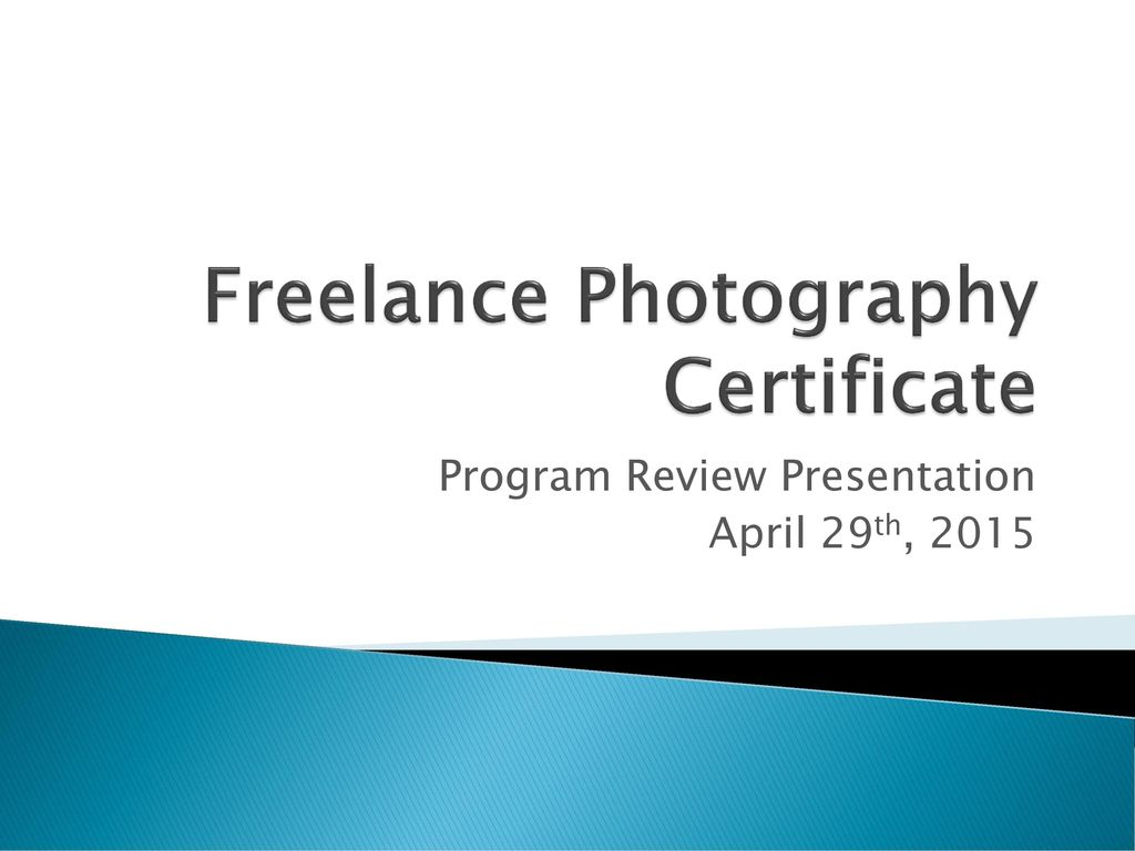 Freelance photography certificate ppt download freelance photography certificate 1betcityfo Image collections