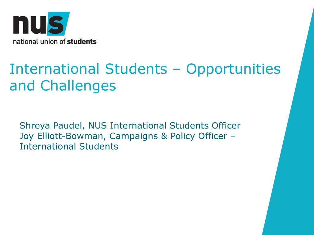 challenges faced by international students The 2010 economics students survey of international students of economics in the uk sheds light on the experiences and perceptions of international students[9].