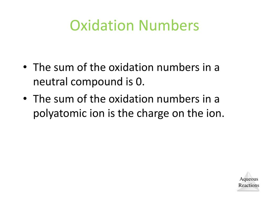 how to find the oxidation number of a polyatomic ion