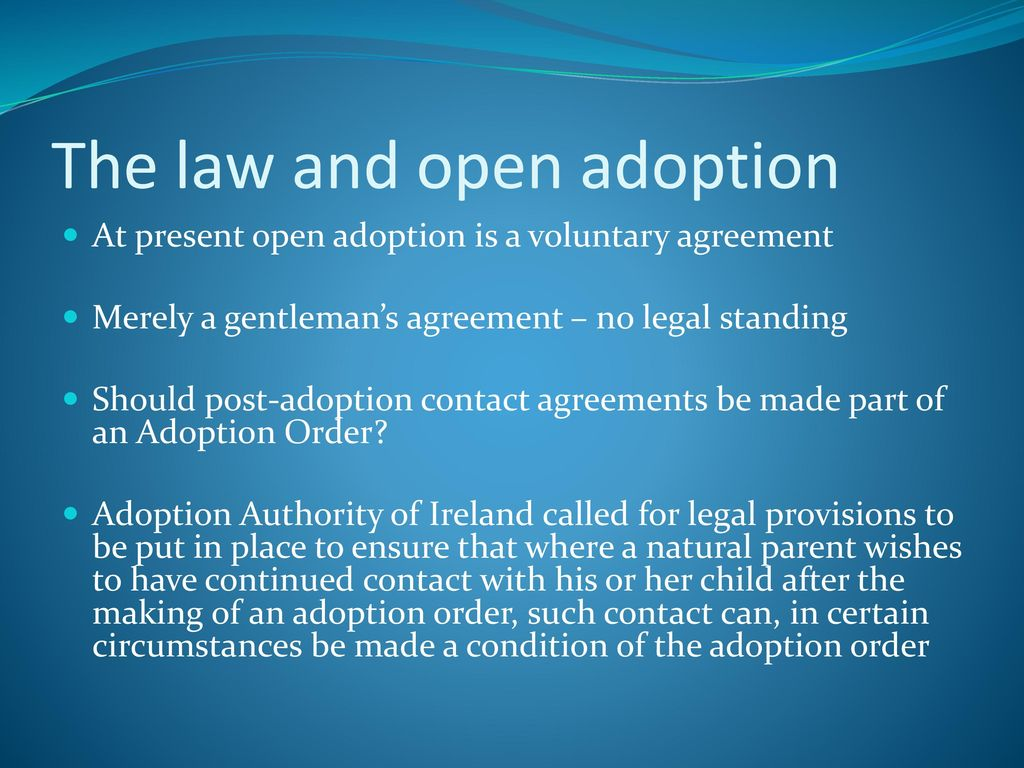 Viewing adoption through a childrens rights lens looking to the the law and open adoption platinumwayz