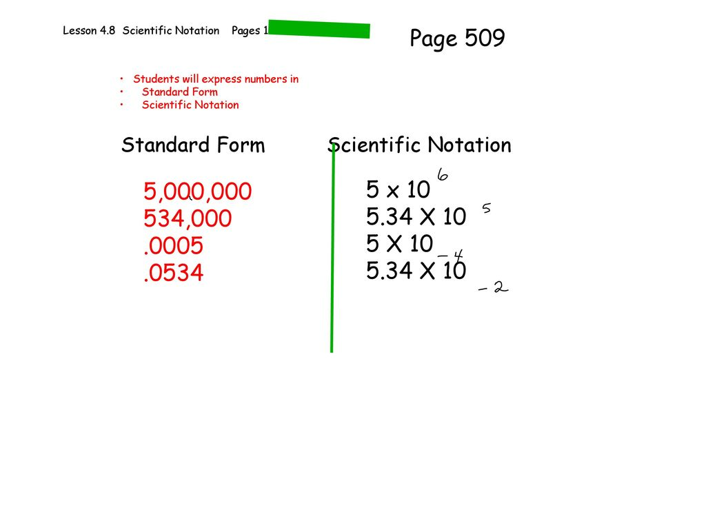Lesson 48 scientific notation pages ppt download lesson 48 scientific notation pages 186 189 falaconquin