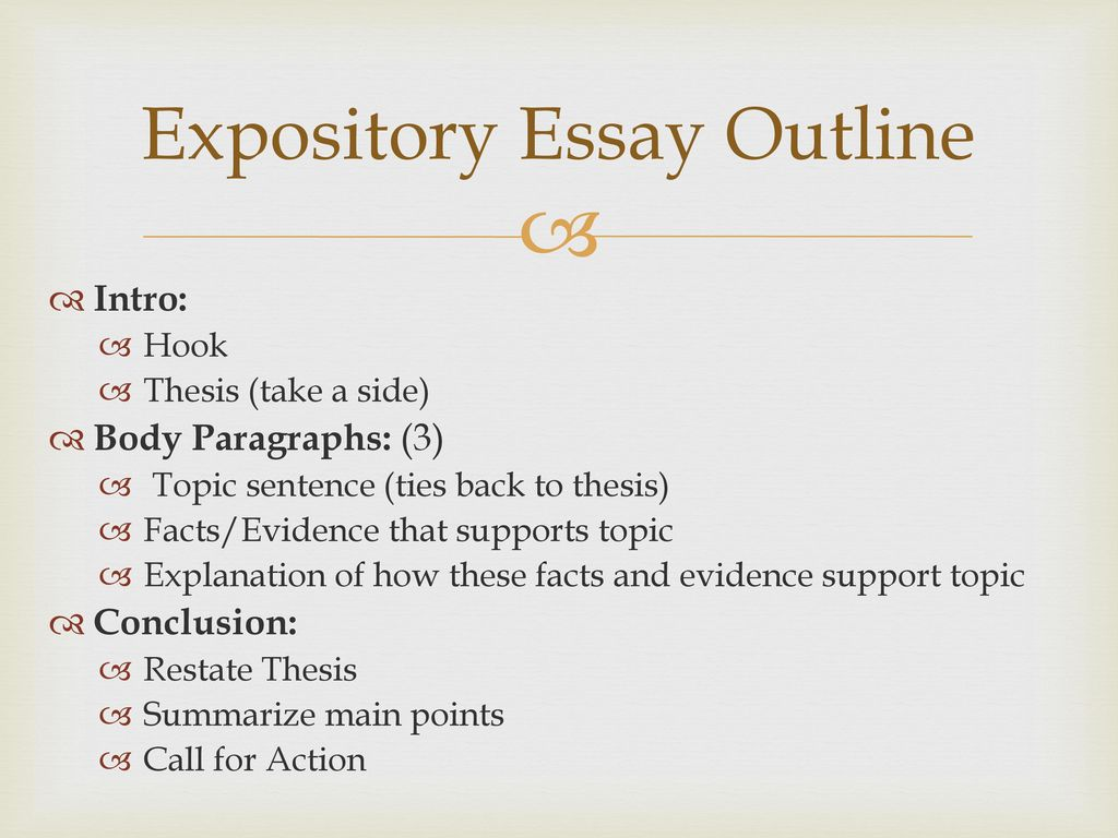 notice and note sept ppt  26 expository essay outline