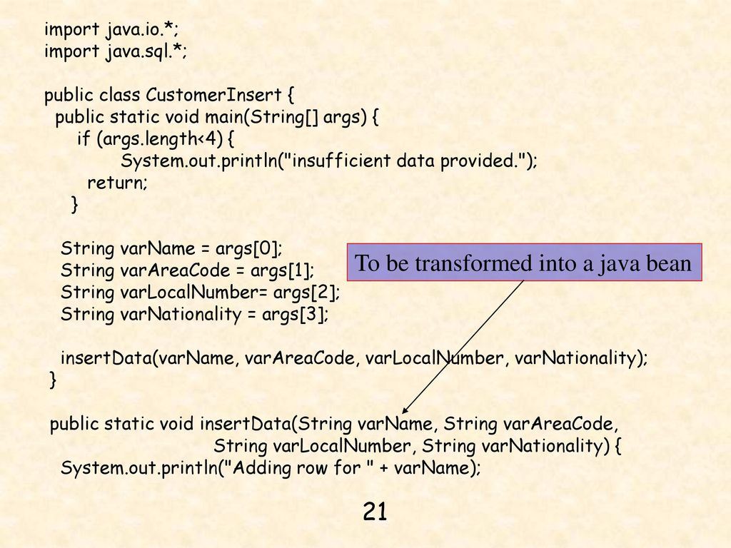 Chapter 14 jdbc java server pages and mysql ppt download to be transformed into a java bean baditri Gallery
