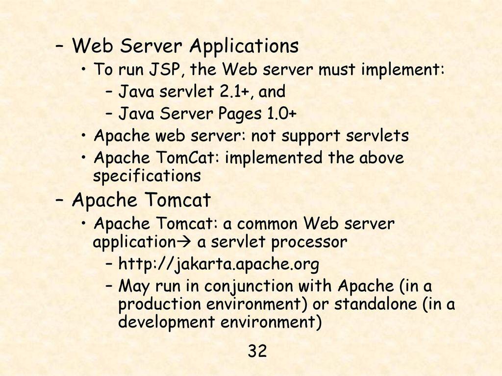 Chapter 14 jdbc java server pages and mysql ppt download 32 web server applications baditri Gallery