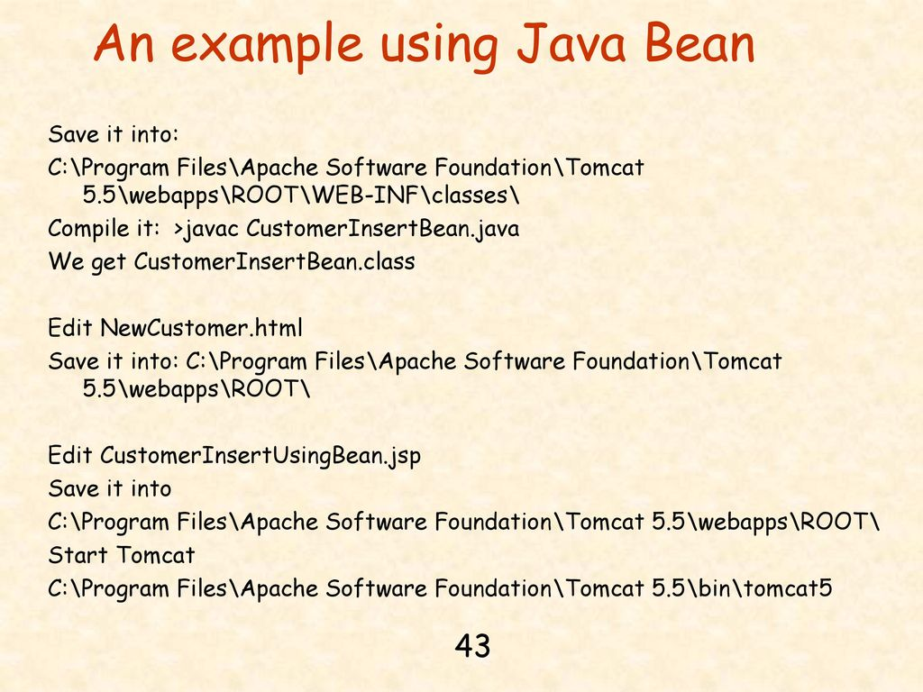 Chapter 14 jdbc java server pages and mysql ppt download an example using java bean baditri Gallery