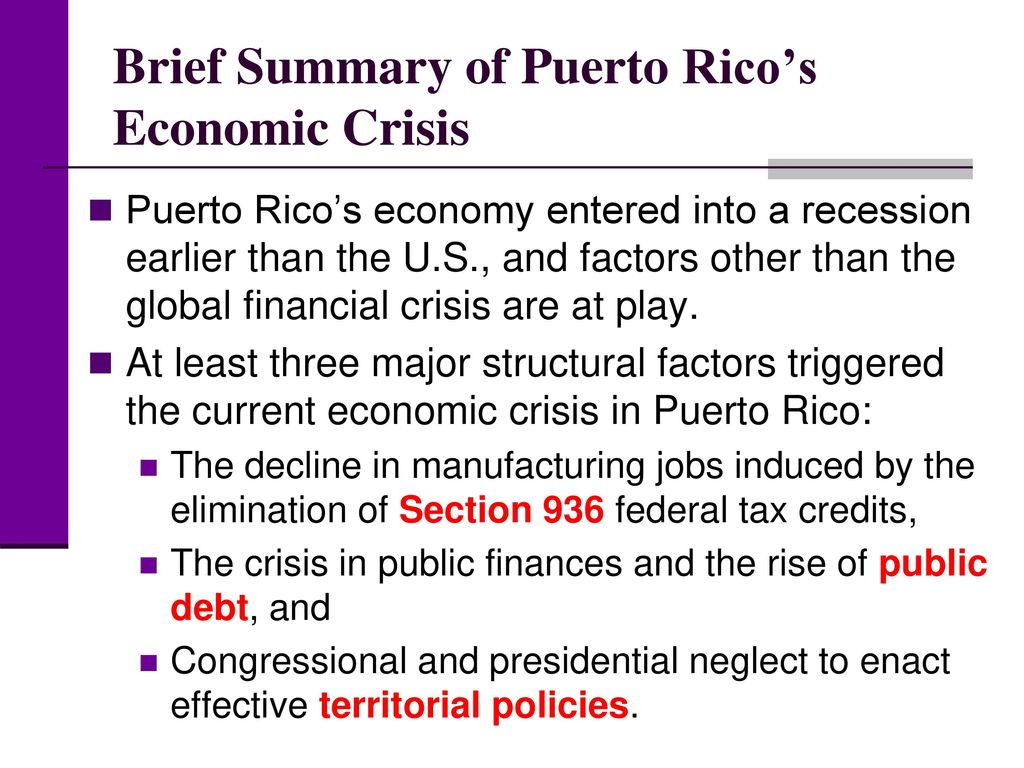 summary of the global financial crisis pdf