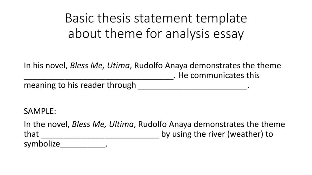 Theme Statement Template