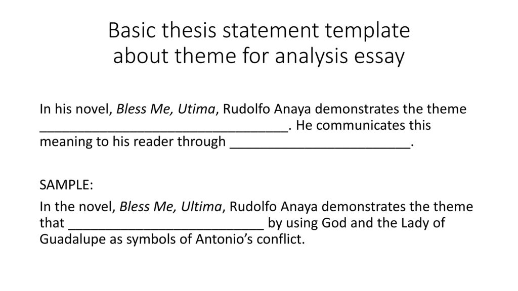 tuesday do now take out peel eel paragraphs from  basic thesis statement template about theme for analysis essay