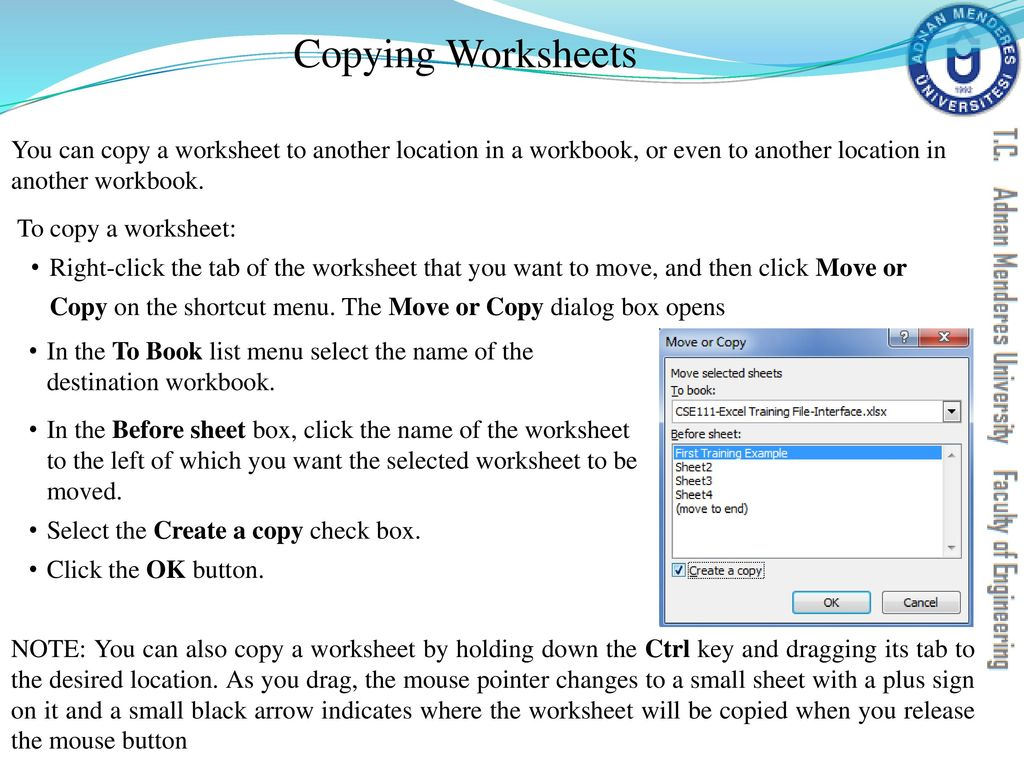 worksheet What Is The Difference Between A Workbook And A Worksheet cse111 introduction to computer applications ppt download copying worksheets you can copy a worksheet another location in workbook or even