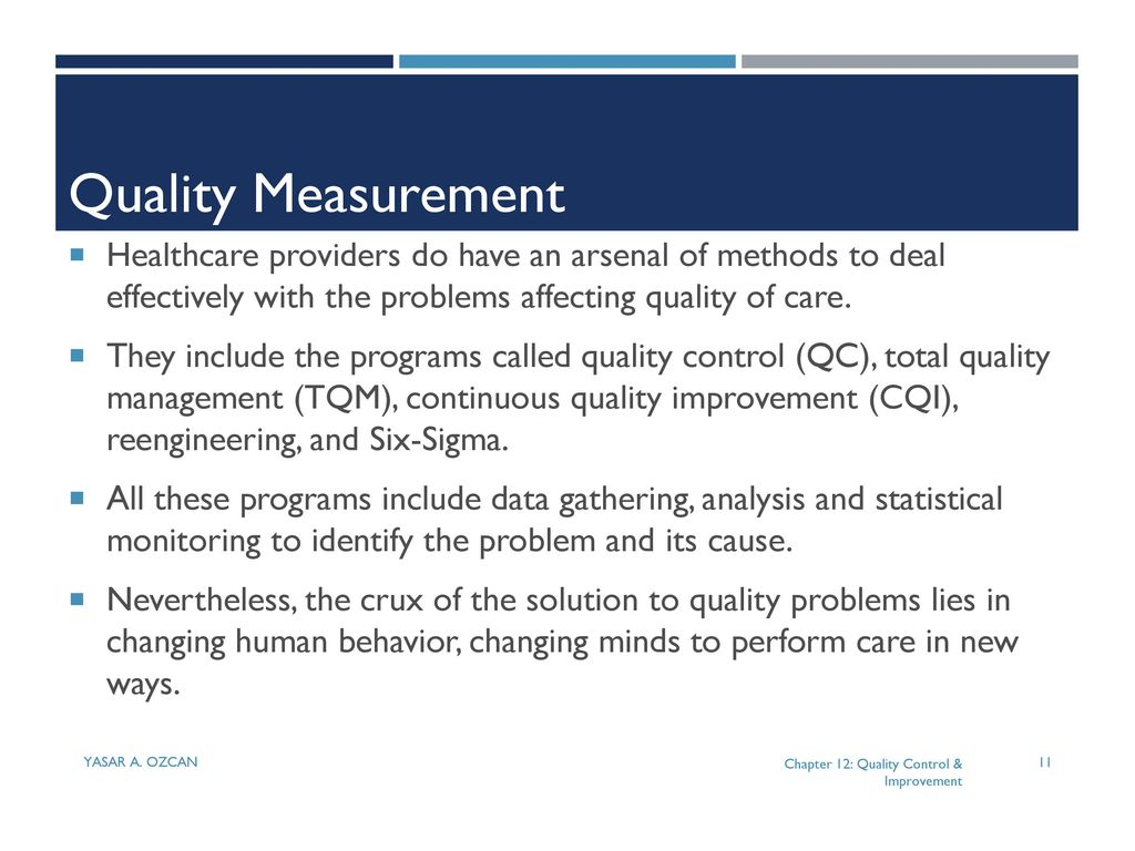 quality control in healthcare pdf