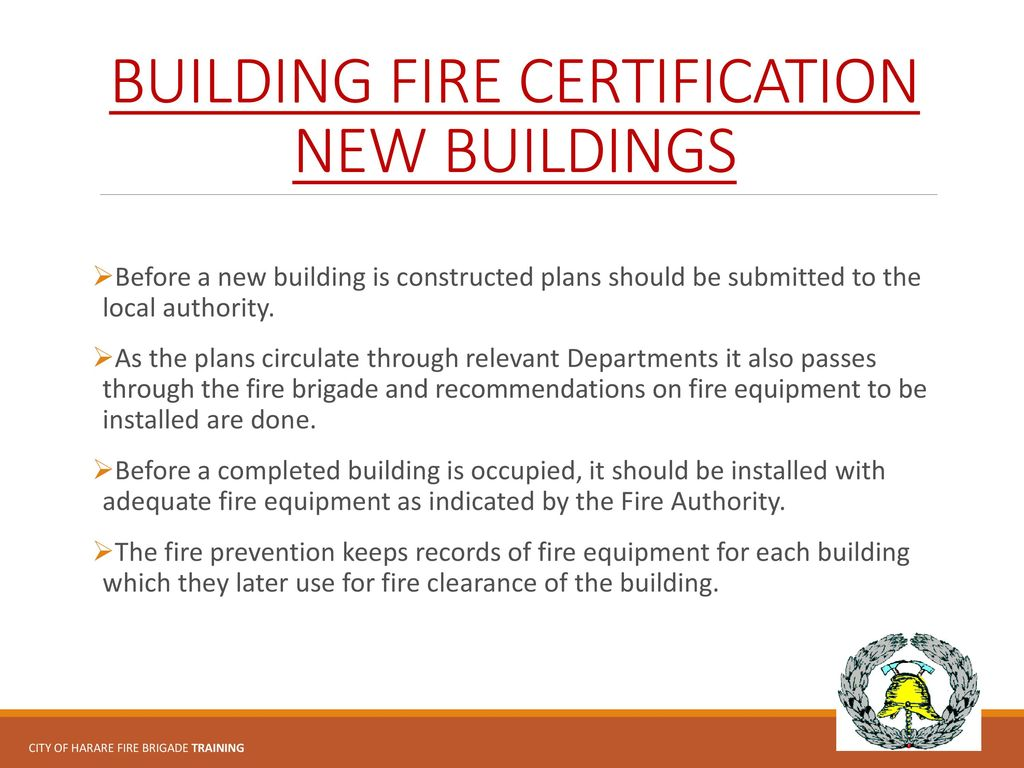 City of harare emergency services ppt download building fire certification new buildings 1betcityfo Gallery