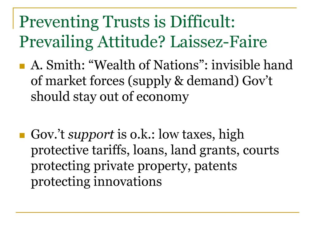 laissez faire supply and demand and demand Regulation the central institution of a laissez-faire economy is the free-market system  chapter 3: demand, supply, and market equilibrium .